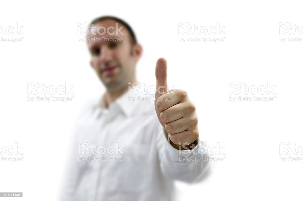 Business man shows the thumb royalty-free stock photo