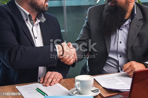 istock Business man signing a contract 1133788476