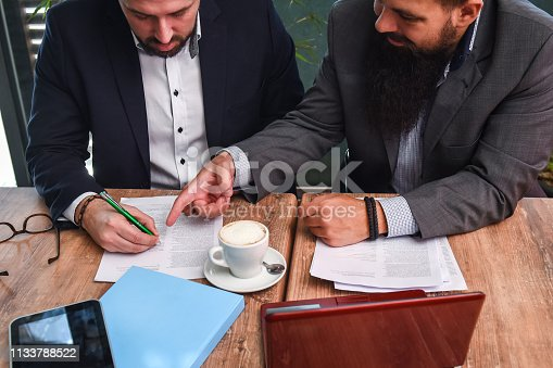 istock Business man signing a contract 1133788522