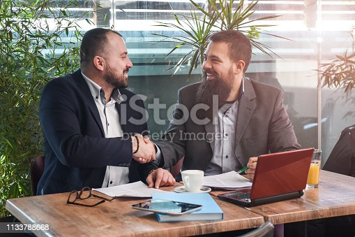istock Business man signing a contract 1133788668