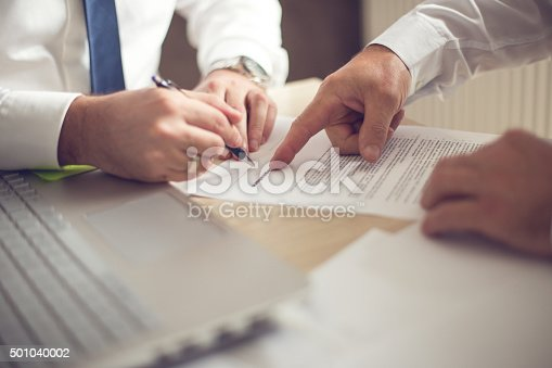 istock Business man signing a contract 501040002