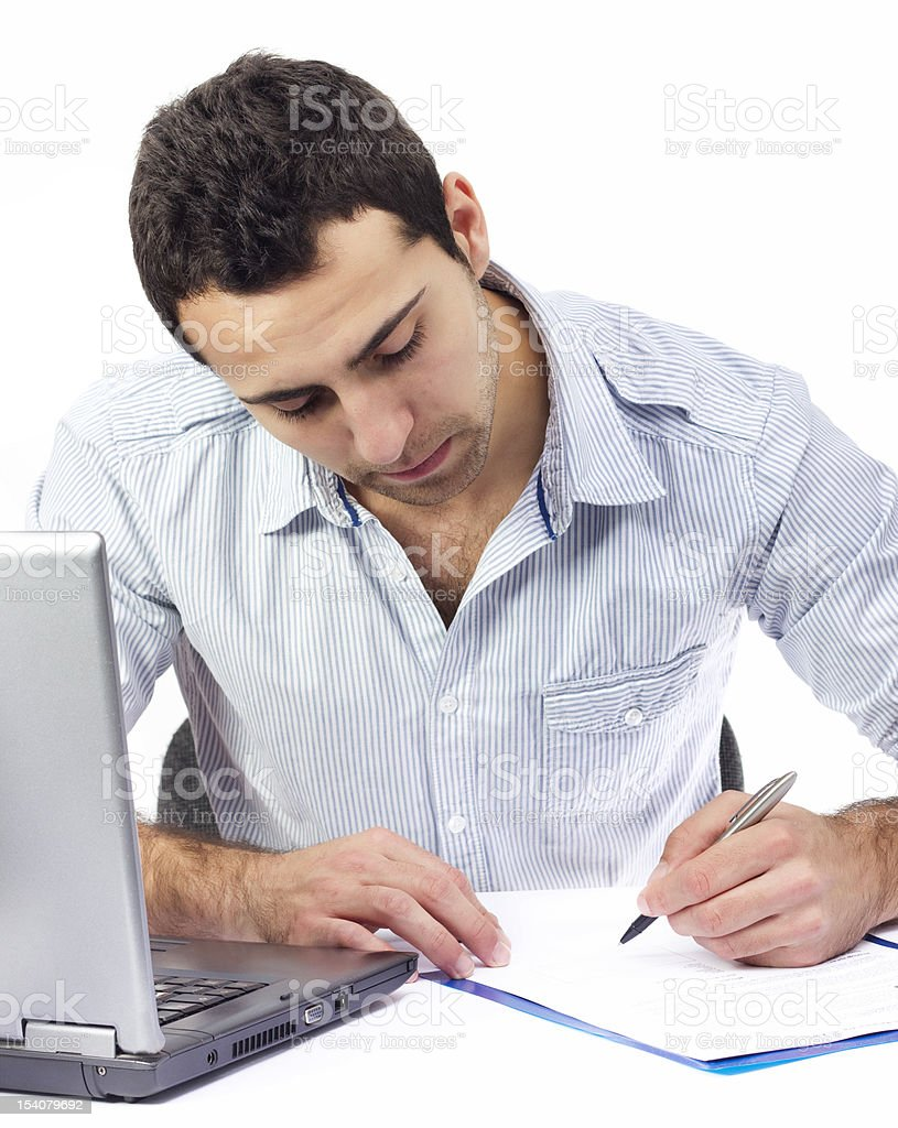 Business man signing contract royalty-free stock photo