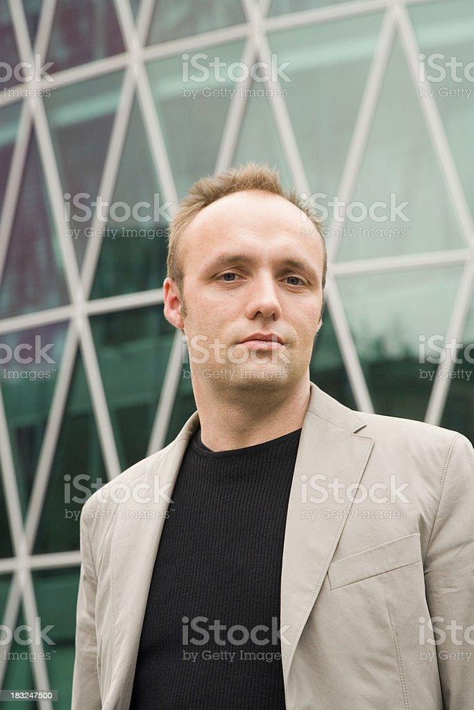 Business man smile royalty-free stock photo