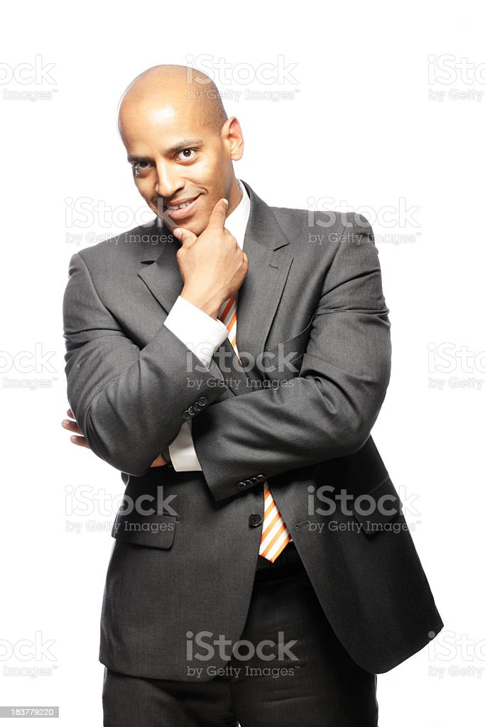 Business Man Smiling Looking at Camera stock photo