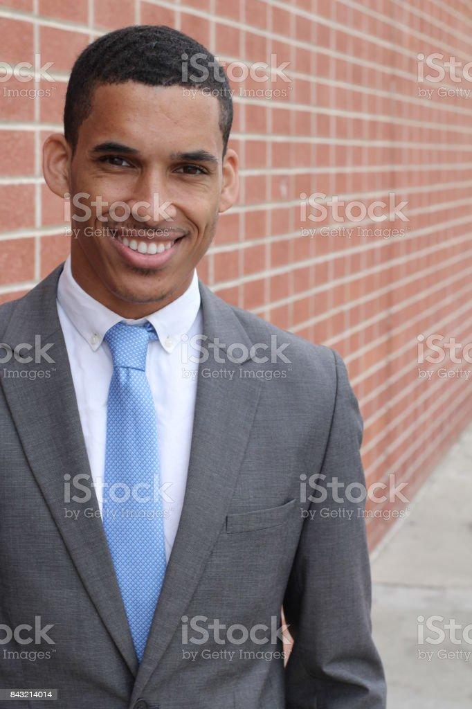 Business Man Smiling Looking at Camera stock photo