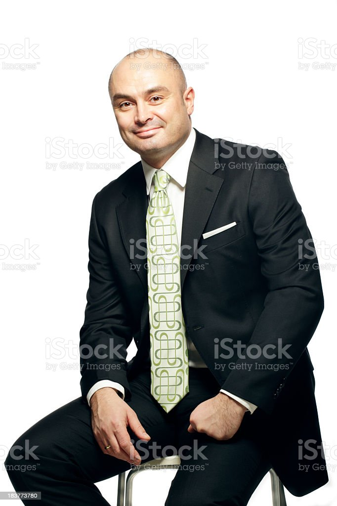 Business Man Smiling royalty-free stock photo