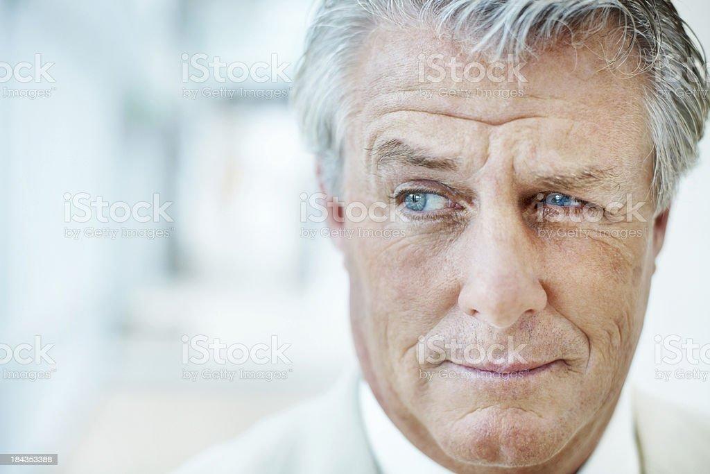 Business man smirking royalty-free stock photo