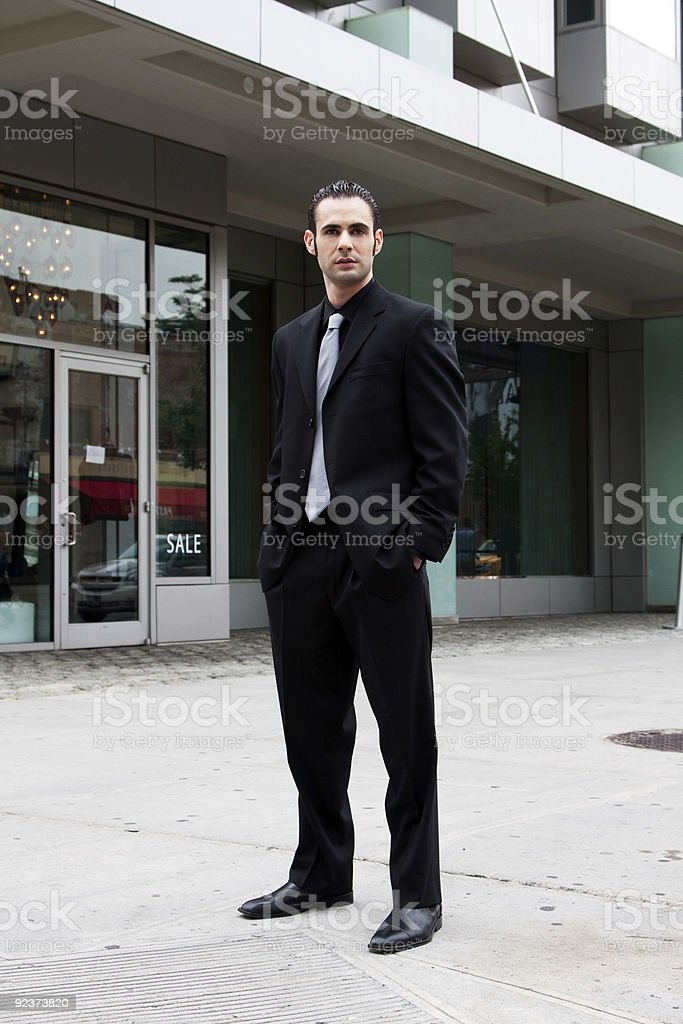 Business man standing royalty-free stock photo