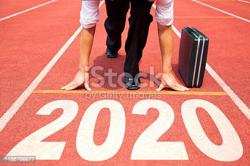istock Business man Start to new year 2020 plans 1188766677