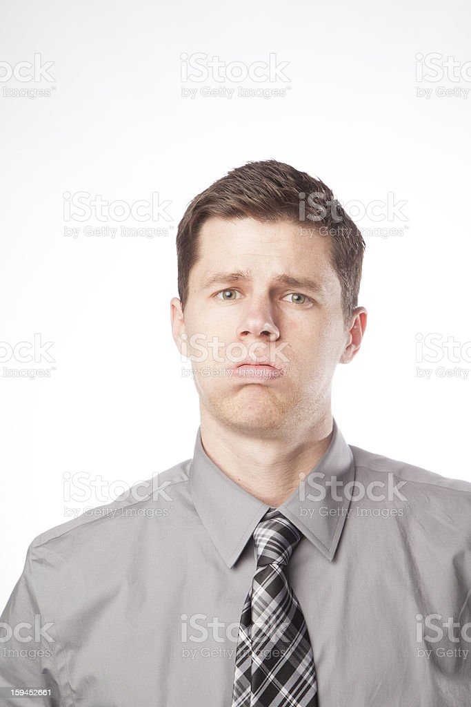 Business Man Stressed Out stock photo