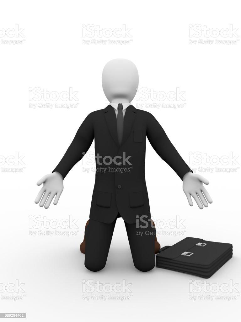 business man supplicating stock photo