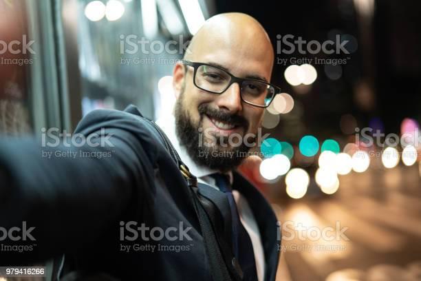 Business man taking a selfie at night picture id979416266?b=1&k=6&m=979416266&s=612x612&h=a5aq2mbvvc5jcwcfiwgngx0kue80vjccbyquequtob8=