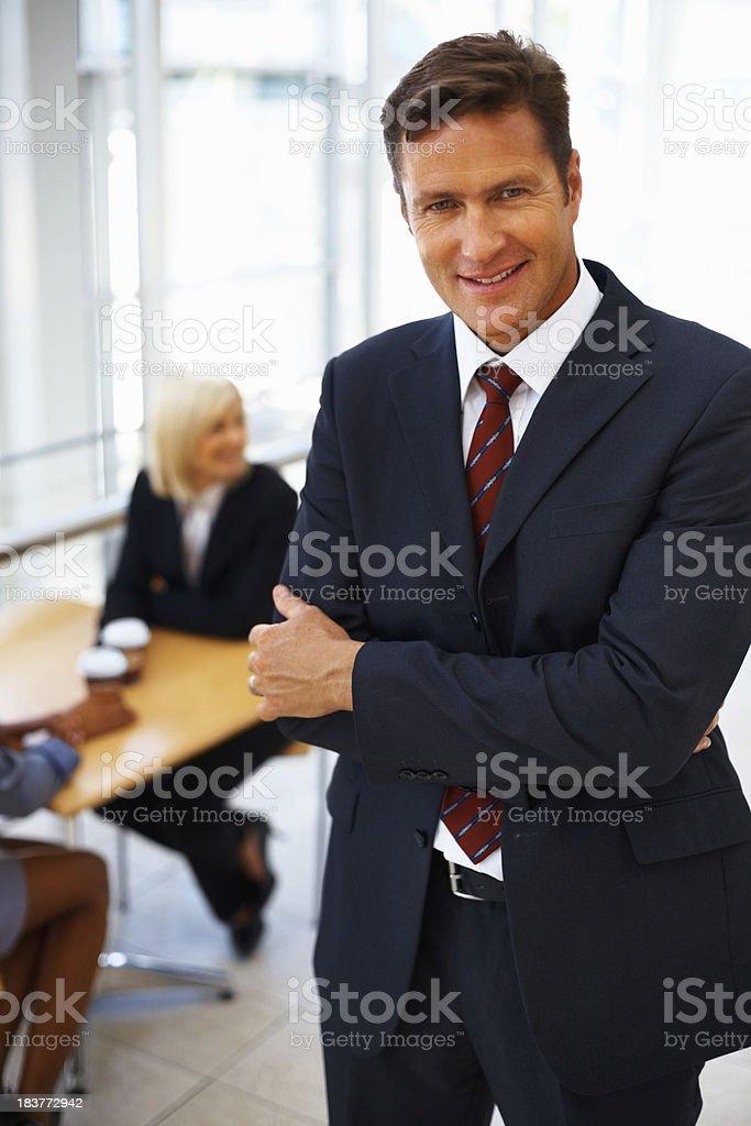 Business man taking break from work royalty-free stock photo