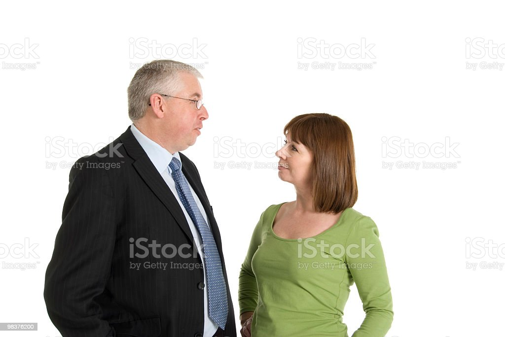 Business Man talking to Woman royalty-free stock photo
