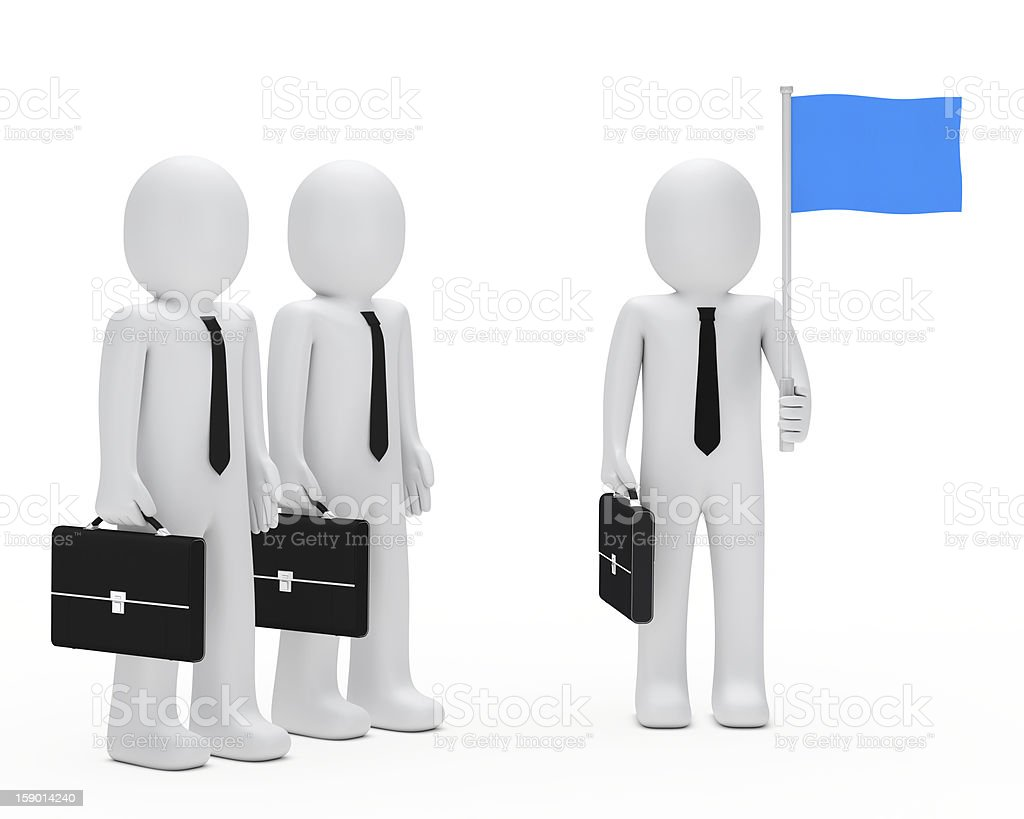 business man team hold flag royalty-free stock photo