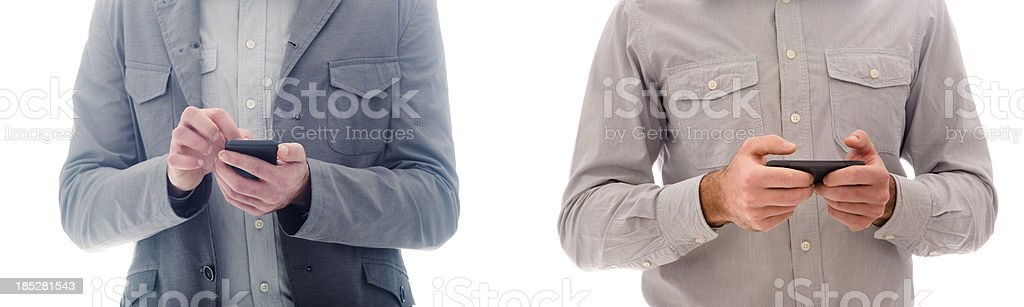 Business man text messaging series royalty-free stock photo