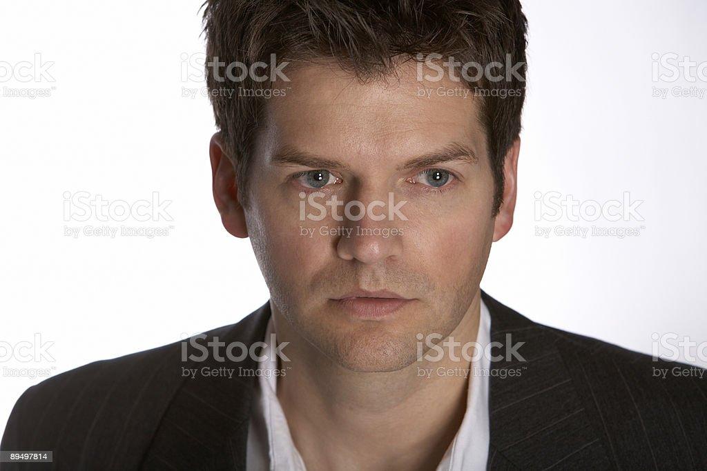 Business man thinking royalty-free stock photo