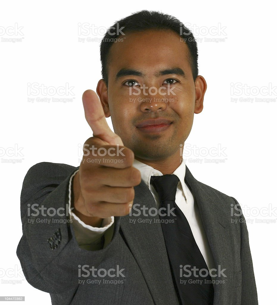 Business Man Thumbs Up royalty-free stock photo