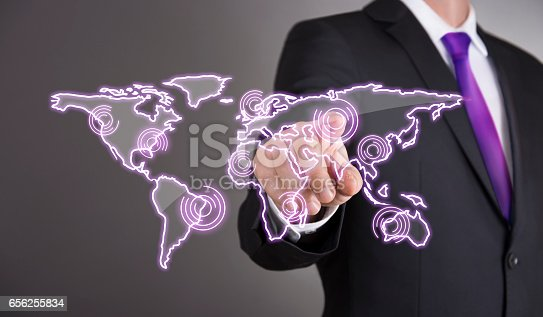 498272366istockphoto Business man touch screen concept - Communication 656255834