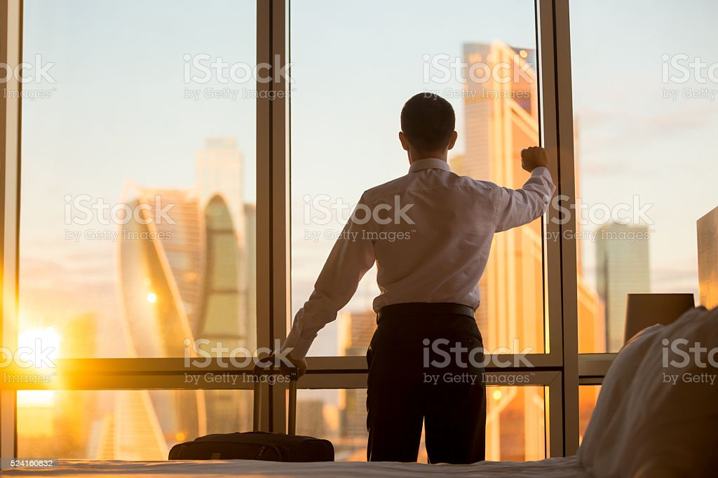 Business man trip stock photo