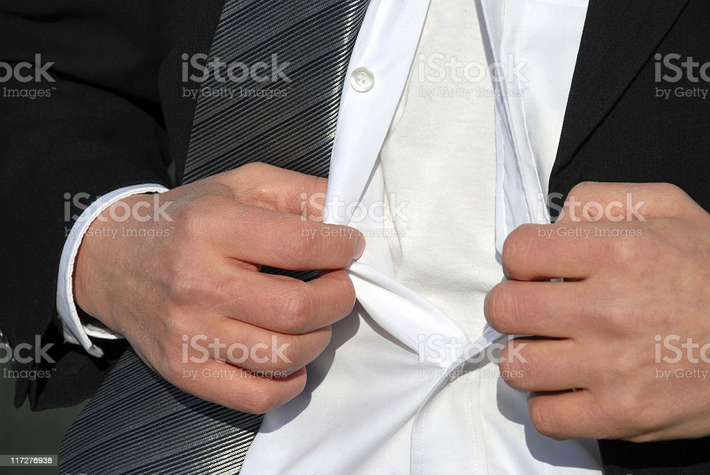 business man unbuttoned royalty-free stock photo