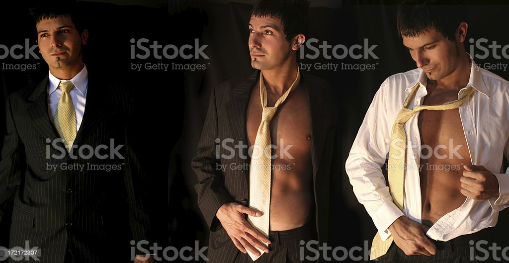 Business Man Undressing stock photo