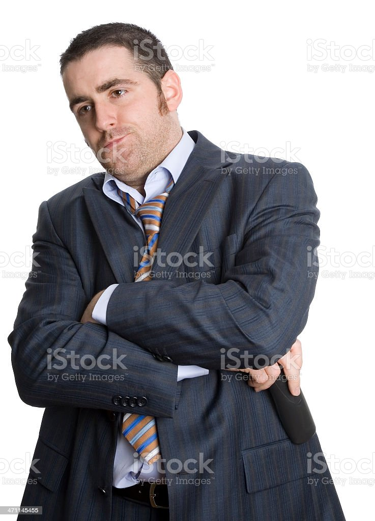 Business man upset royalty-free stock photo