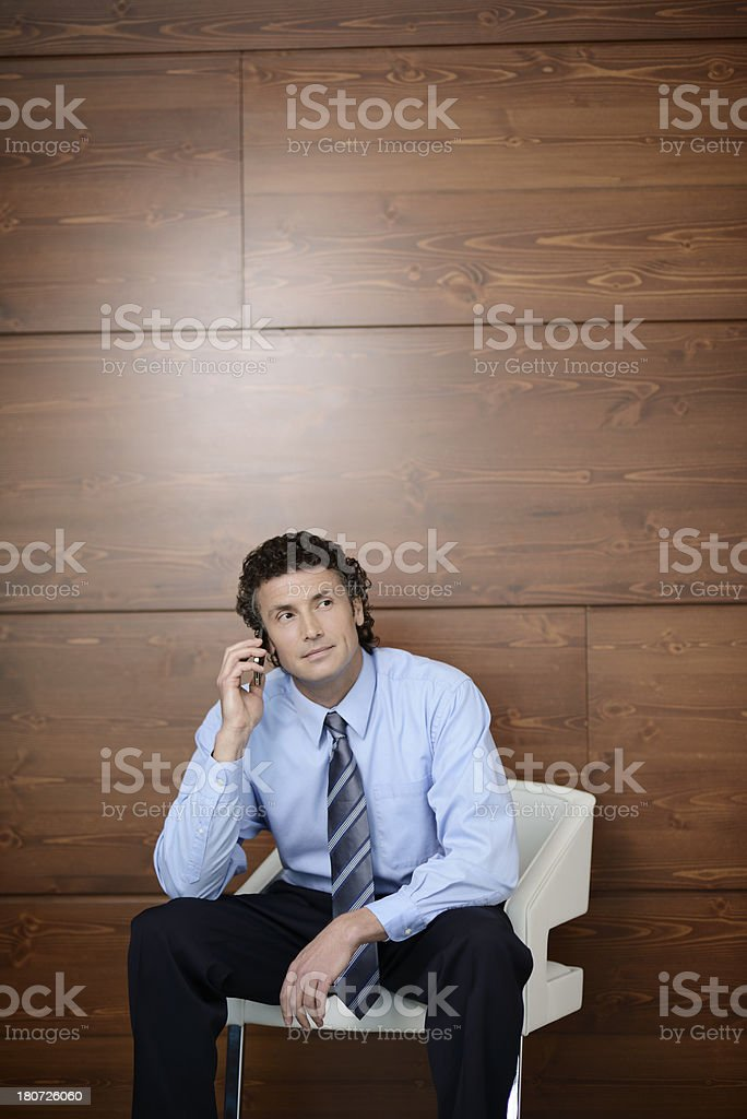 Business man using cell phone royalty-free stock photo