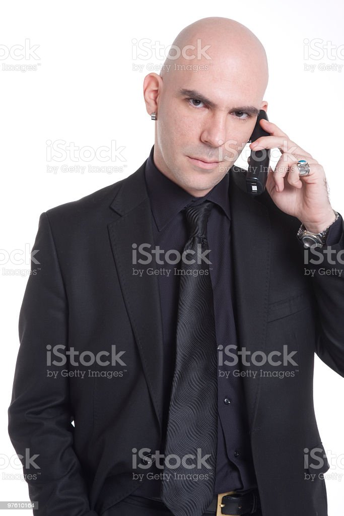 business man using his phone royalty-free stock photo