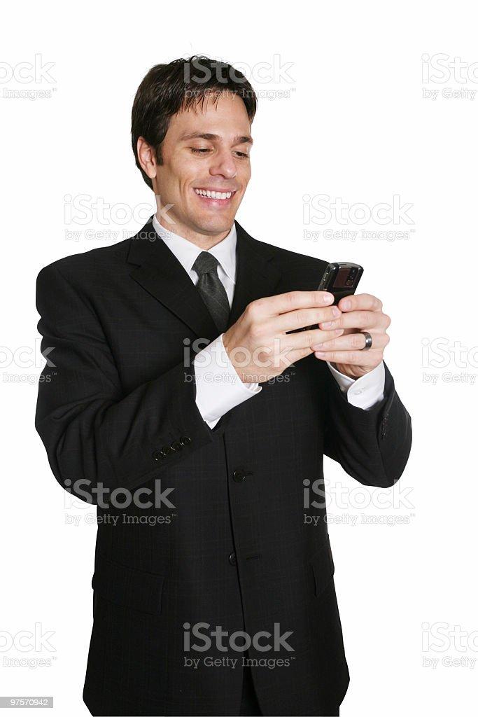 Business man using phone royalty-free stock photo