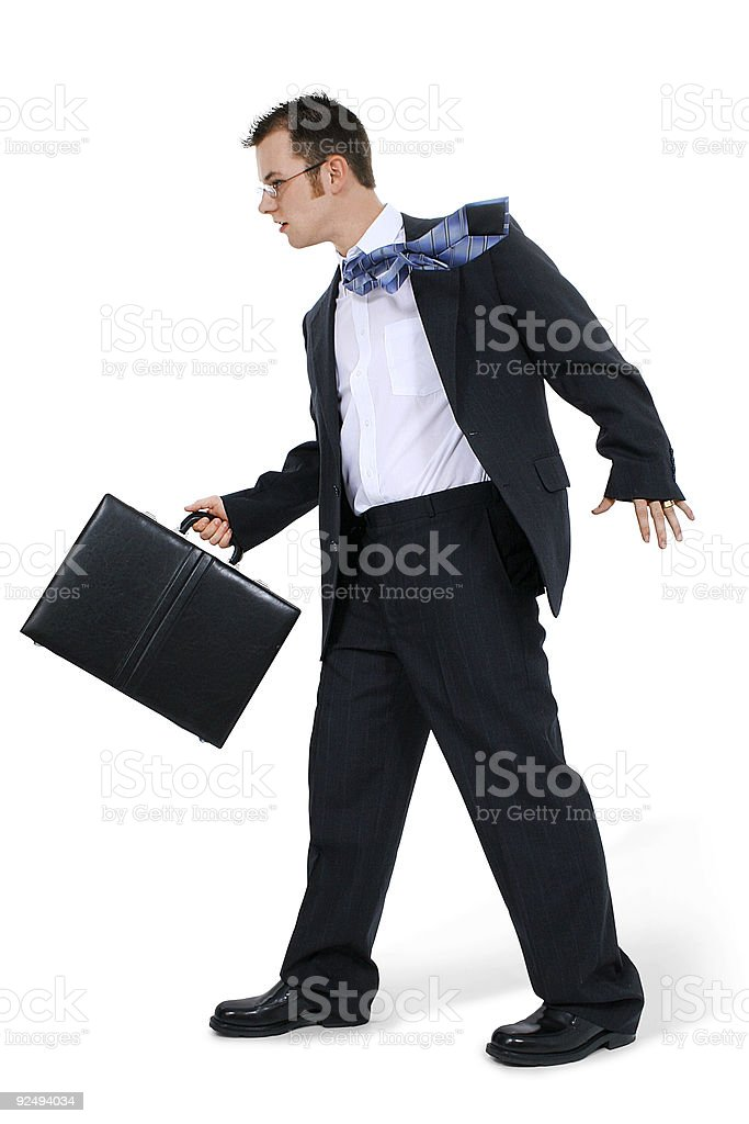 Business Man Walking With Briefcase royalty-free stock photo