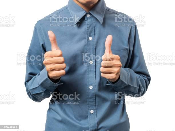 Business Man Winner With Blue Shirt - Fotografias de stock e mais imagens de Adulto