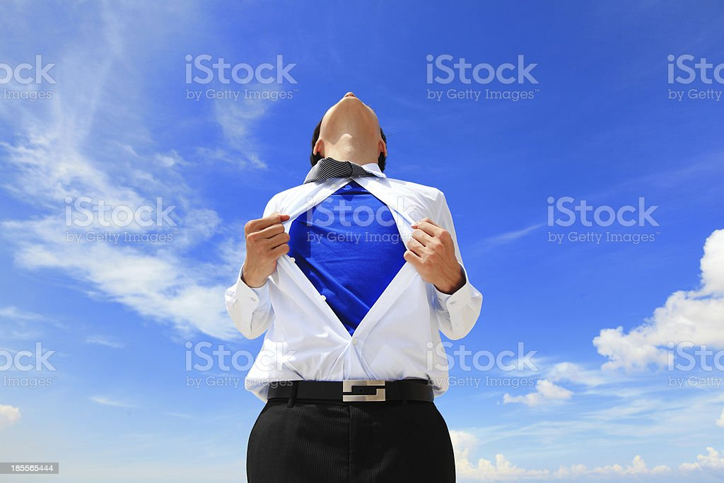 A business man with a superhero top royalty-free stock photo