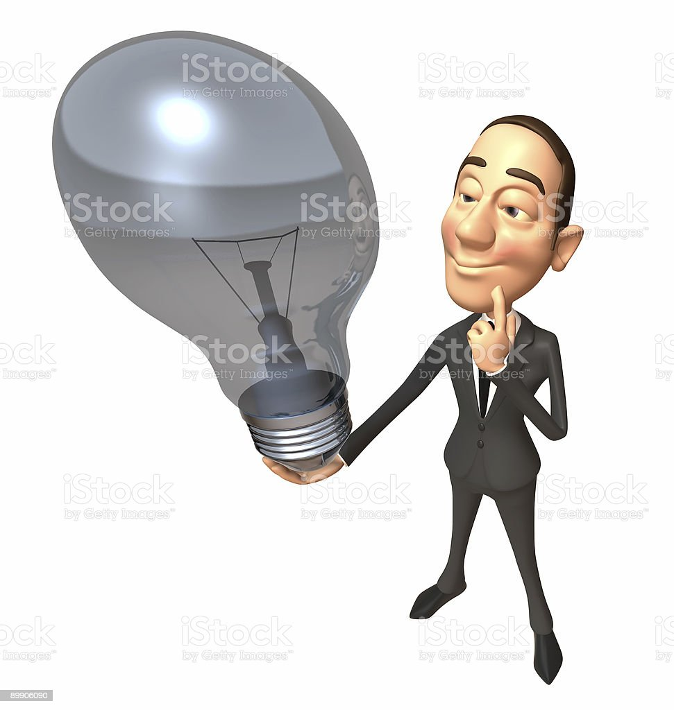 Business man with an idea royalty-free stock photo