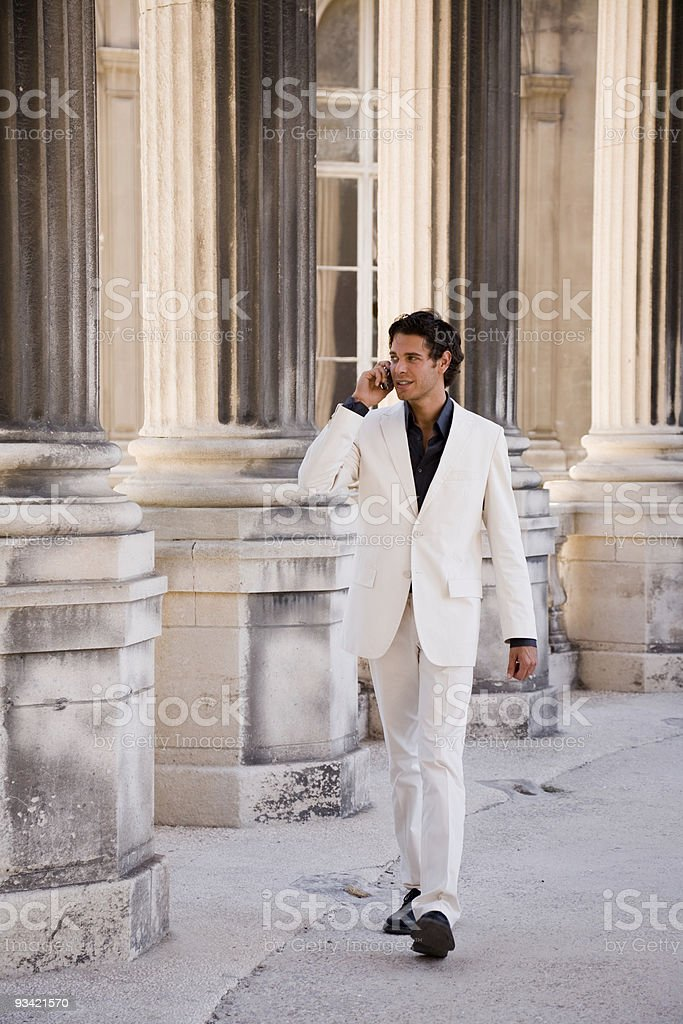 Business Man with Cell Phone royalty-free stock photo