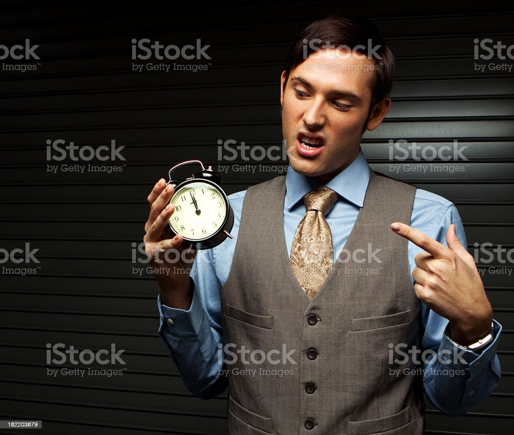 Business Man With Clock royalty-free stock photo