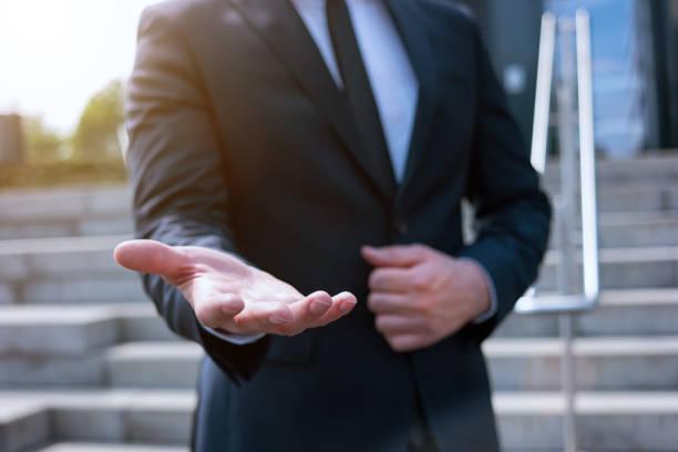 business Mann hand mit leeren – Foto