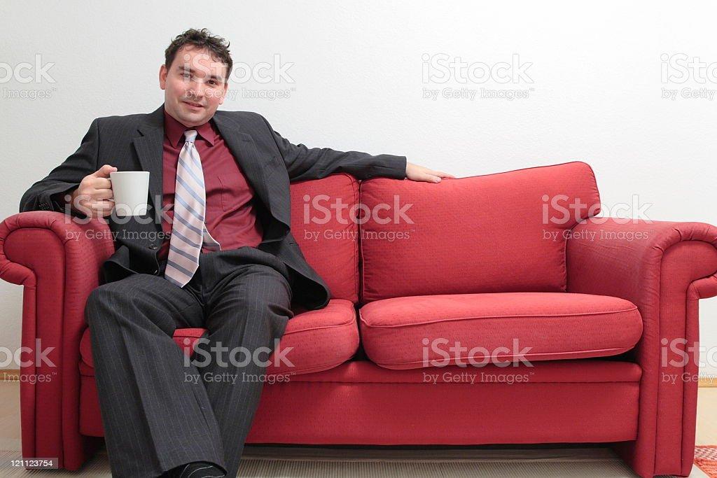 Business Man with Mug royalty-free stock photo