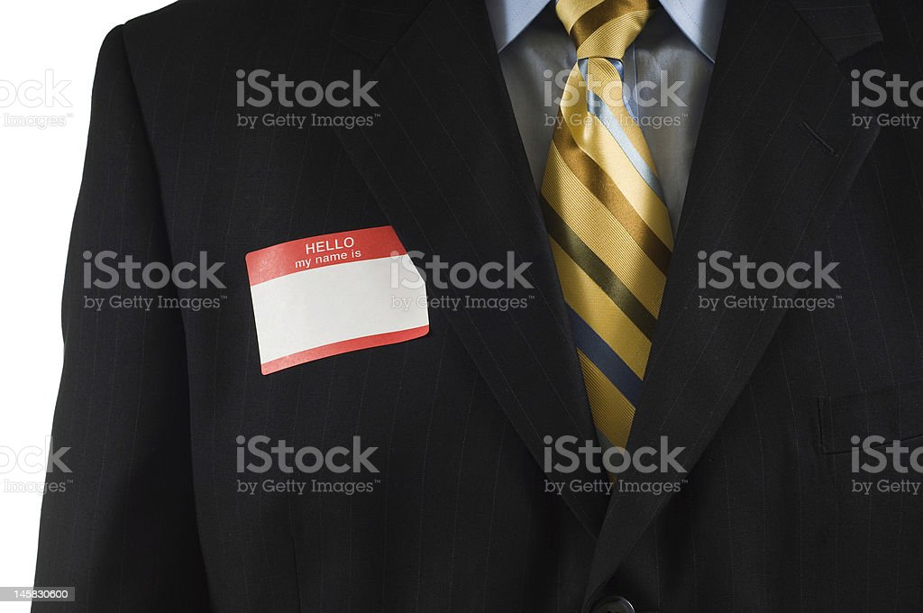 Business man with Name Tag royalty-free stock photo