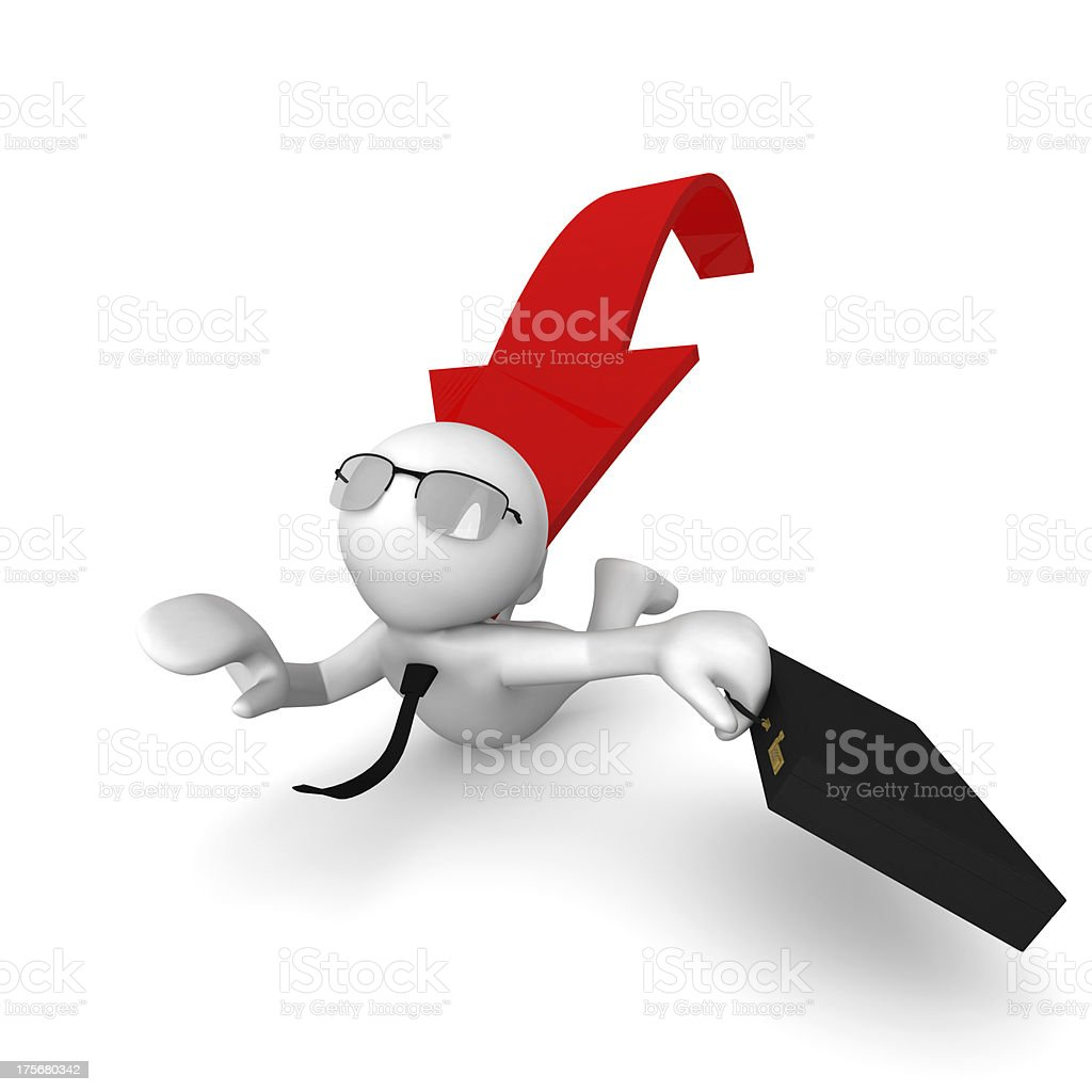 business man with red arrow stock photo