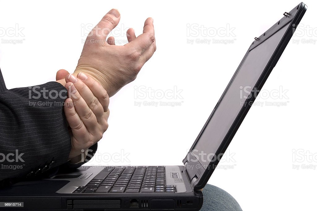 Business man with RSI / Carpal Tunnel Syndrome royalty-free stock photo