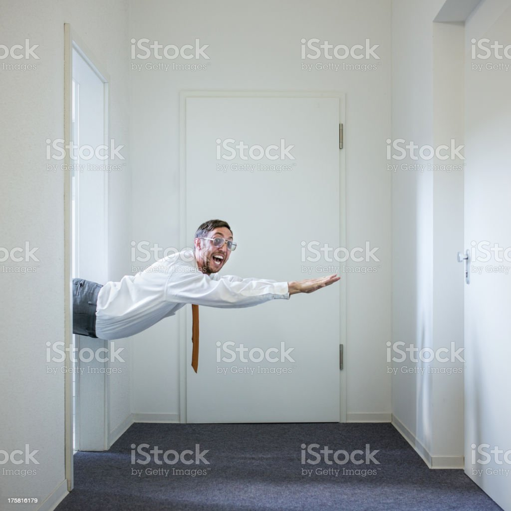 Business Man with Super Powers stock photo