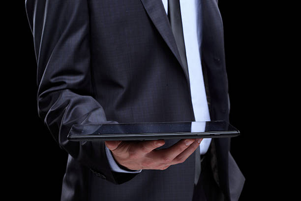 business man with tablet. – Foto