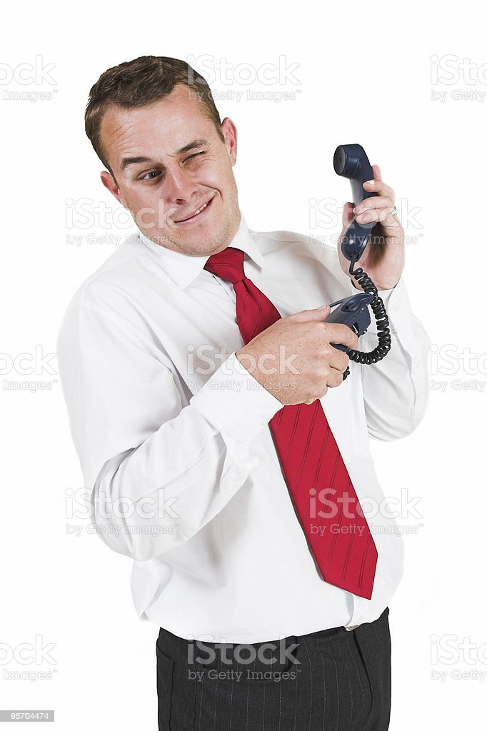 Business man with telephone royalty-free stock photo