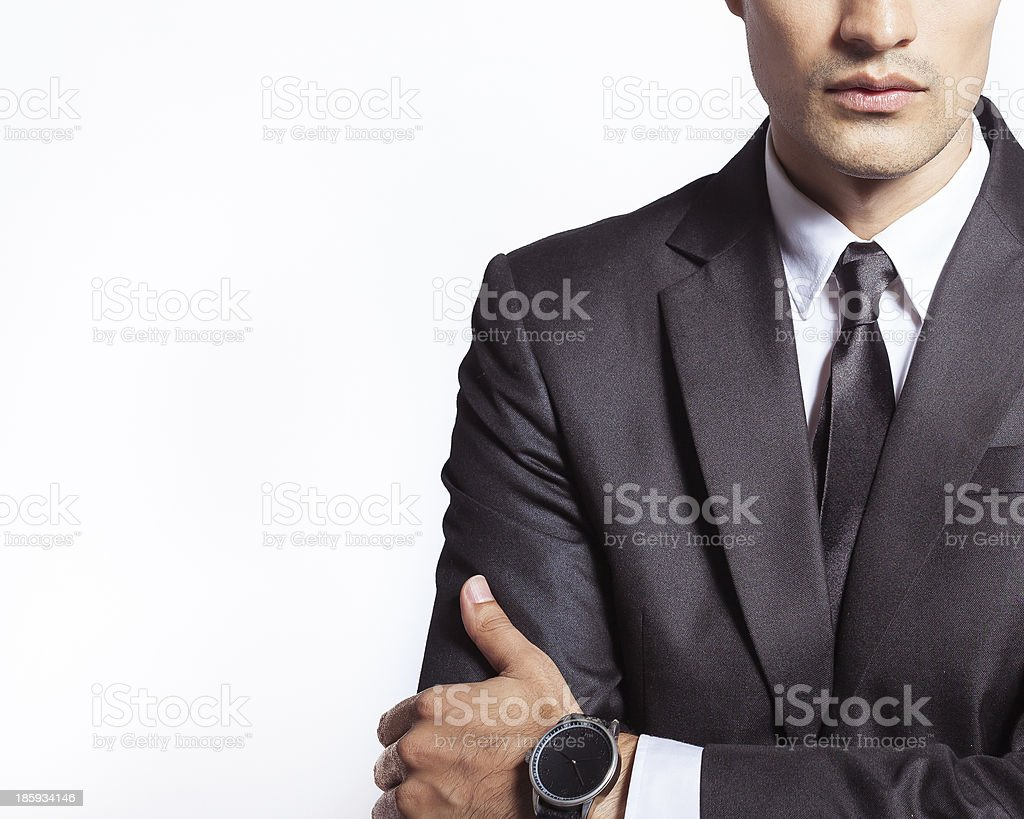 business man with watch royalty-free stock photo