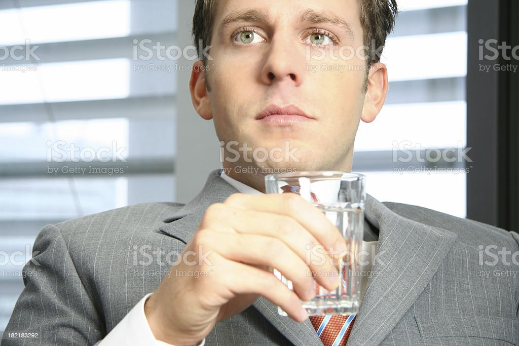 Business man with water royalty-free stock photo