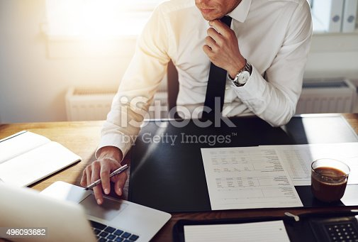 istock Business man working at office, Consultant lawyer concept 496093682