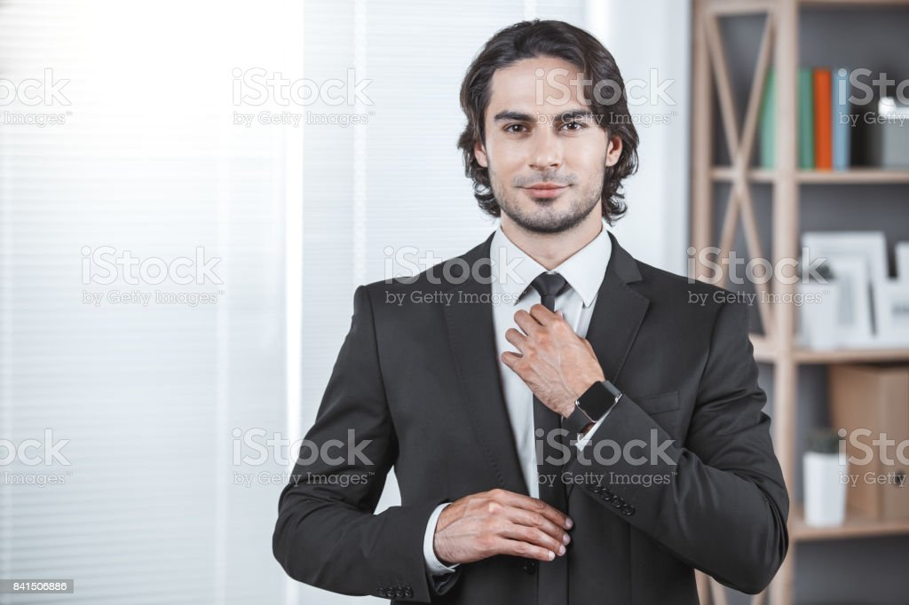 Business man working in the office job concept stock photo