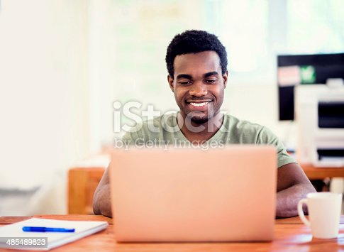 istock Business man working online 485489823
