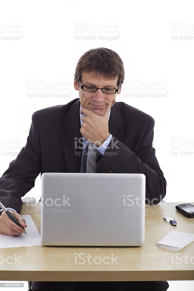 Business Man Working royalty-free stock photo